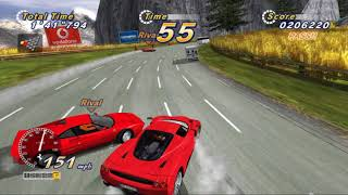 RPSC3 0.0.5 6795 - OUTRUN ONLINE ARCADE PS3   - FULL OUTRUN ROUTE B -  PS3 2018 GT1030 PC GAMEPLAY