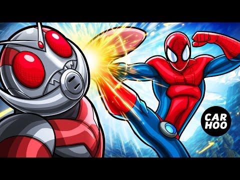 SPIDER-MAN vs ANTMAN 【 MARVEL Superheroes / Masked Rider Parody 】