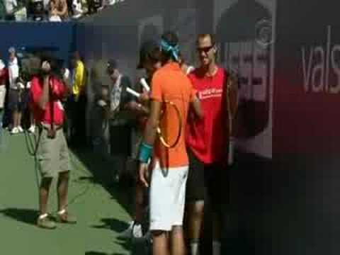 2008 US Open kid s day Nadal, Federer, Serena and Davenport