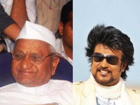 Rajini does it for Anna Hazare