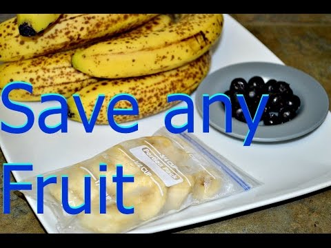 How to Freeze Bananas or any Fruit for Smoothies? Lasts Much Longer. Episode #180