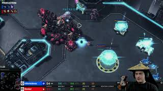 StarCraft 2 Protoss vs Zerg  This Gamer was not happy with our game.