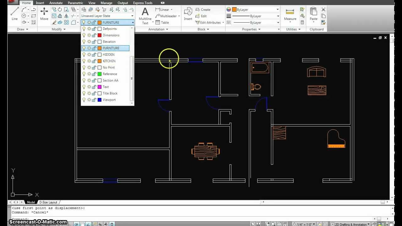Autocad Tutorial 15 First Floor Plan Part Youtube