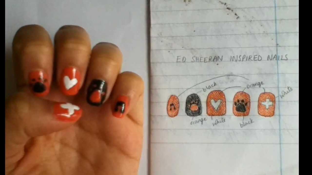 Ed Sheeran Inspired Nail Art Tutorial - YouTube