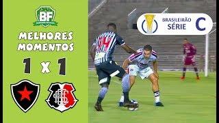 Botafogo PB 1 x 1 Santa Cruz | Brasileirão Série C 2019 | Melhores Momentos | Barrinha Fechada
