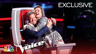 Kelly Clarkson and Blake Shelton's Sibling Rivalry - The Voice 2018 (Digital Exclusive)