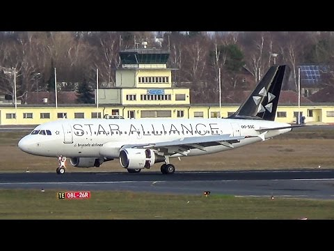 Brussels Airlines • Star Alliance livery •  Airbus A319 landing in Berlin-Tegel! (FULL HD!)