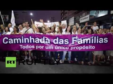 Brazil: Thousands protest against LGBT families
