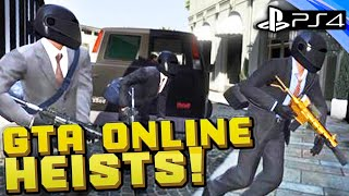 GTA 5 Online - BANK HEIST #1 - The Setup - PS4 CREW Live Stream