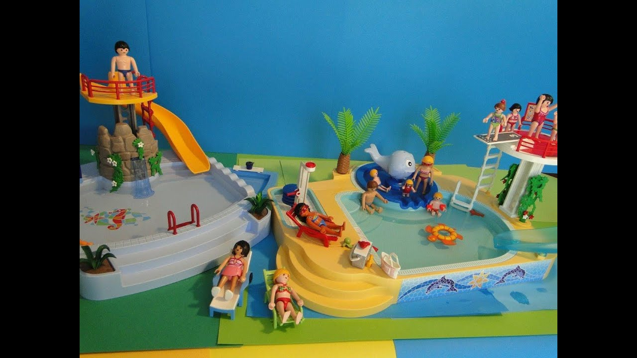 Playmobil piscina vacaciones youtube for Playmobil piscina con tobogan