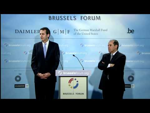 Brussels Forum 2012 Press Conference with Gov. Tim Pawlenty and Mahmoud Jibril el-Warfally