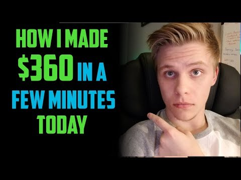 How I Made over $300 Trading Penny Stocks Today | Step By Step January 2018