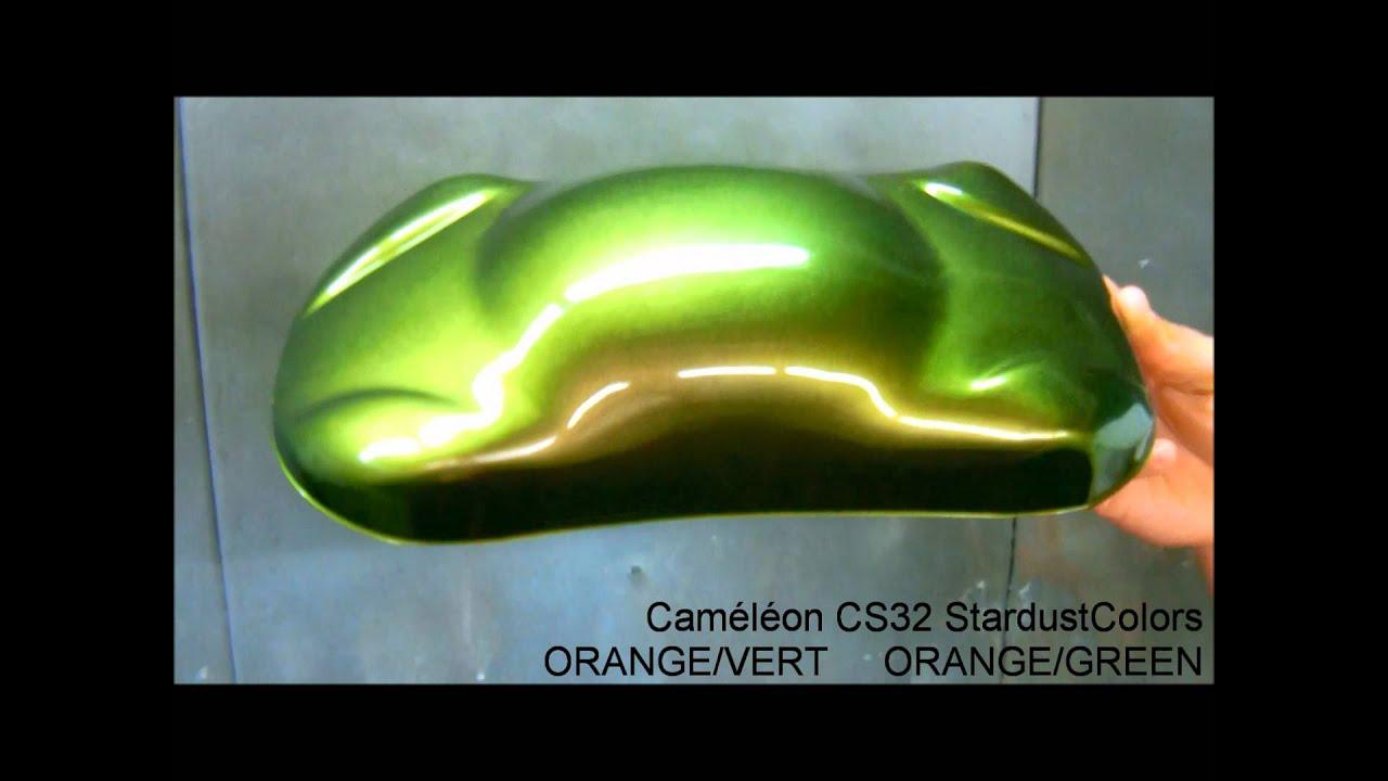 Chameleon Paint Orange Green Youtube