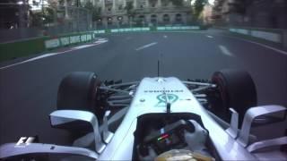 2017 Azerbaijan Grand Prix   Lewis Hamilton Onboard Pole Lap