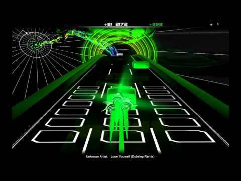 Eminem - Lose Yourself (Bo biz Dubstep Remix) in Audiosurf 1080P HD HIGH bitrate Music Videos