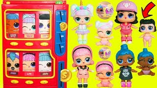 LOL Surprise Dolls Lil Sisters Vending Machine + Confetti Pop Punk Boi Unicorn Toy Video Shopper