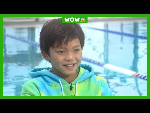 Clark zwemt sneller dan olympisch kampioen | nos