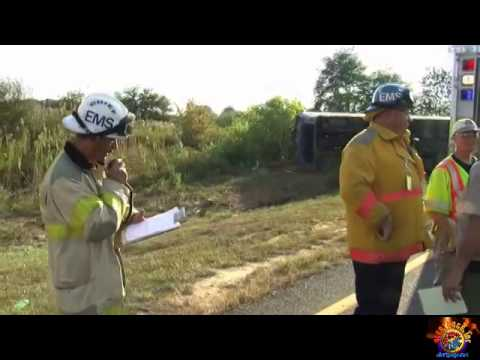 Delaware City DE Fatal Tour Bus Crash with FD & EMS Radio Traffic 9/21/14