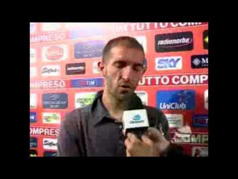 Intervista a Cristian Stellini(difensore del Bari), intervistato in sala stampa dopo la partita tra Bari-Fiorentina 2-0.