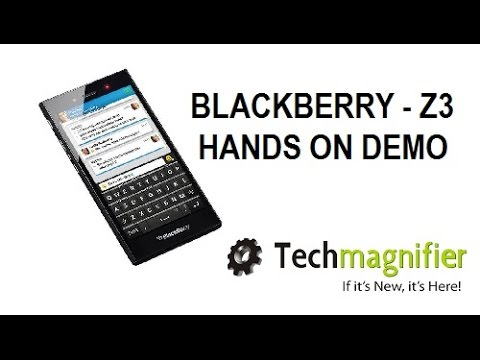 Blackberry Z3 Smartphone Hands On Demo
