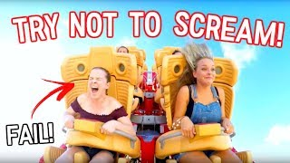 Try Not to Scream Challenge on Crazy Rollercoaster!