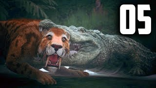 Ancestors: The Humankind Odyssey - Part 5 - CROC VS SABER TOOTH