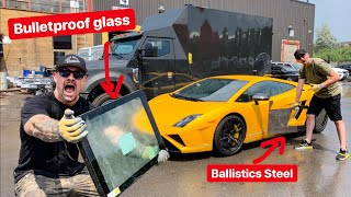 MAKING A LAMBORGHINI BULLETPROOF! *INKAS ARMOUR*