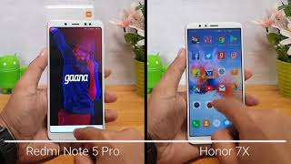 Xiaomi Redmi Note 5 Pro vs Honor 7X Speedtest Comparison