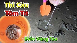 Lamtv - Thi Câu Tôm Tích Vào Ngày Rằm Tại Biển Vũng Tàu   Bắt Tôm Tít - Catch Mantis Shrimp