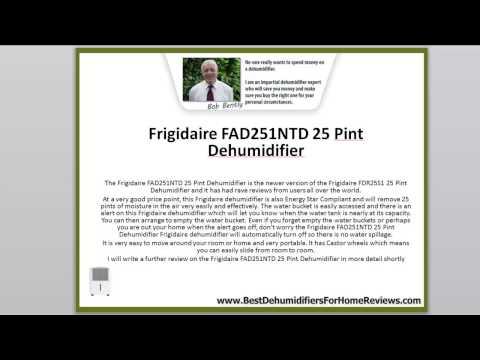 Frigidaire Dehumidifier Presentation With Reviews