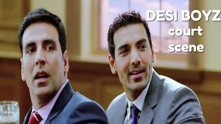 Desi Boyz Comedy Court Scene   Akshay Kumar   John Abraham   Sanjay Dutt   Omi Vaidya   Anupam Kher