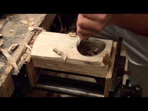 Carving a Kuksa - Part 2/4  Carving a Kuksa bowl using Nic Westermann twca cam knife