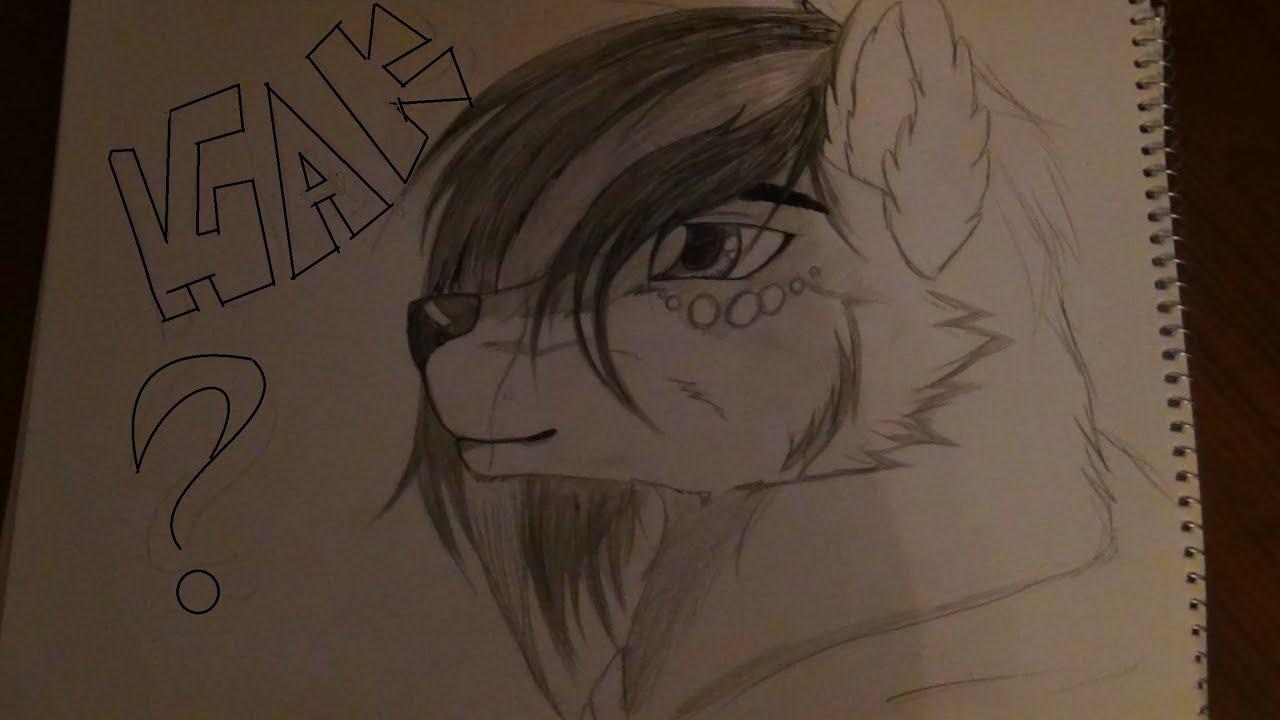 Рисунок волка фурри 6 фотография