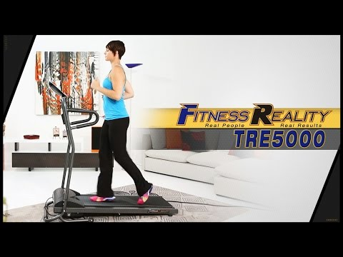 FITNESS REALITY TRE5000 Compact Slim Line Running and Walking Electric Treadmill