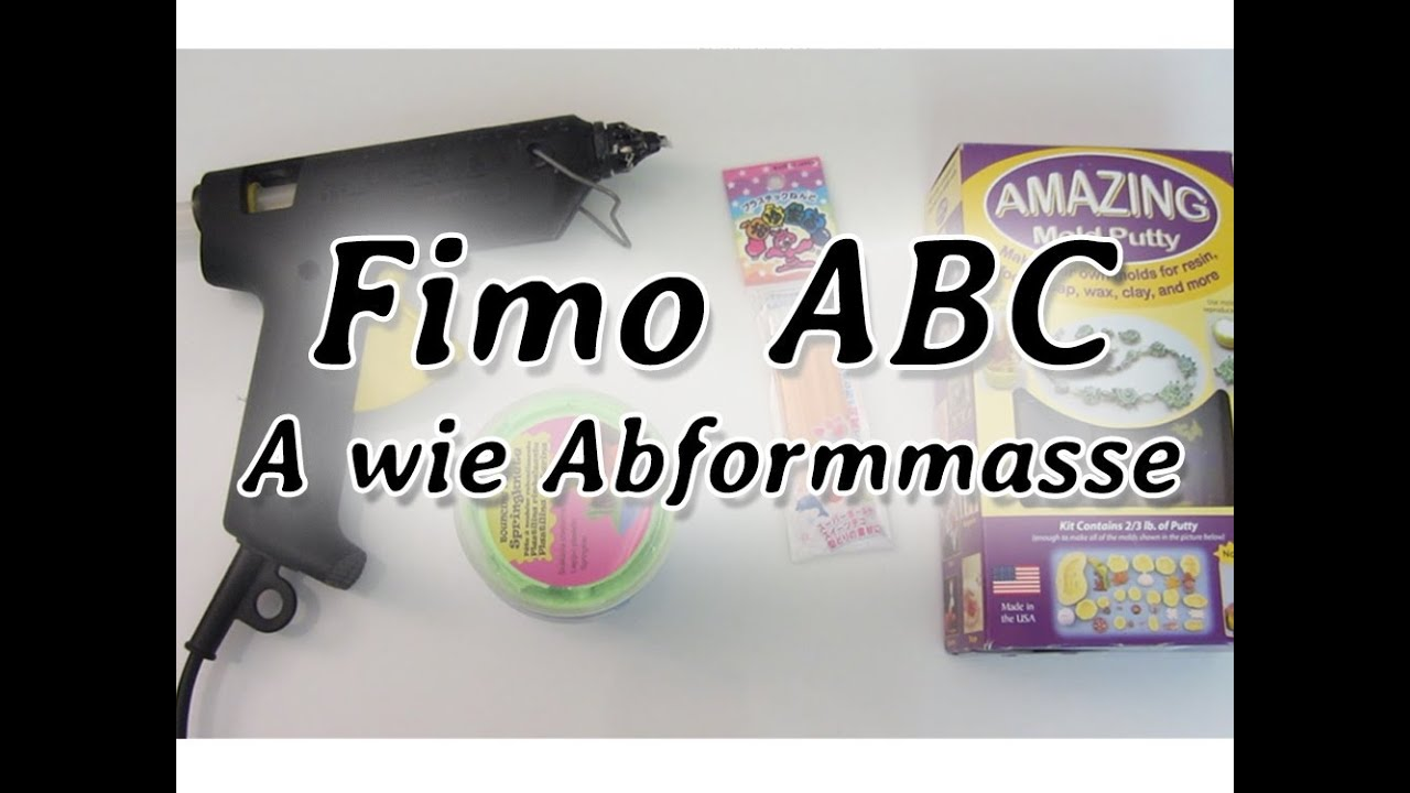 fimo abc a wie abformmasse m wie molds youtube. Black Bedroom Furniture Sets. Home Design Ideas