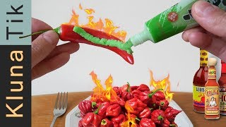 SPICIEST FOOD ASMR 🔥 - KLUNATIK MUKBANG EATING MOST SPICY MEAL IN THE WORLD ASMR (2019)
