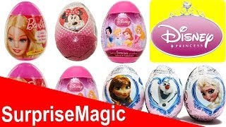 10 Surprise Eggs Disney Princess Barbie Disney Frozen Minnie Mouse