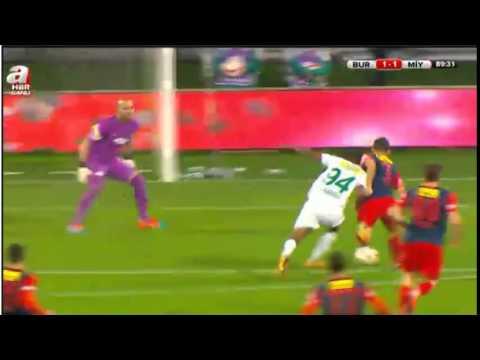 Bursaspor Mersin İdman Yurdu 1-1 KAÇAN PENALTI Türkiye Kupası (10.12.2014) HD