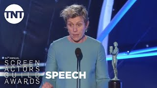 Frances McDormand: Acceptance Speech | 24th Annual SAG Awards | TNT