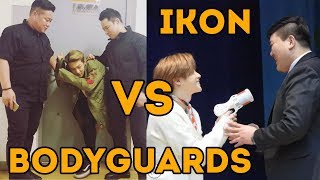 iKON bodyguard is the most stressful job in the entire k-pop industry | 아이콘 대 보디가드