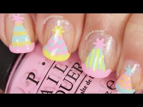 Party Hat Nail Art