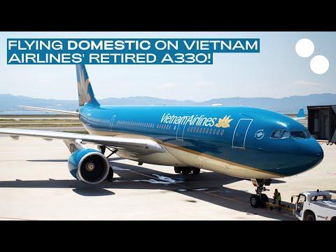 VIETNAM AIRLINES A330-200 ECONOMY CLASS  VN7561 HANOI - NHA TRANG