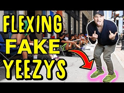 WEARING FAKE UNRELEASED YEEZYS AT THEIR RELEASE! ( I GOT ARRESTED)