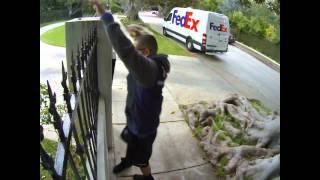 FedEx Guy Throwing My Computer Monitor