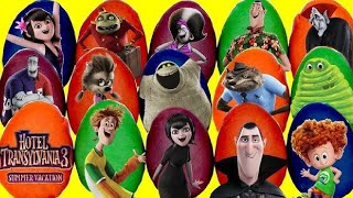 15 HOTEL TRANSYLVANIA 3 Play-Doh Surprise Toy Eggs with Mavis, Dennis, Johnny & Drac