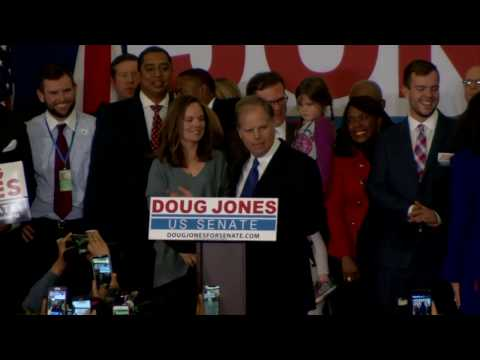 WATCH: AL Democratic Senate candidate Doug Jones speaks on election night