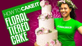 Delicious Spring Floral Tiered Cake for Mother's Day | How To Cake It | Yolanda Gampp