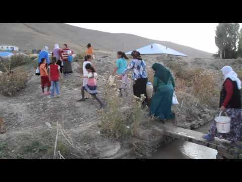 Su ihtiya�lar�n� nehirden kar��l�yorlar - V�DEO