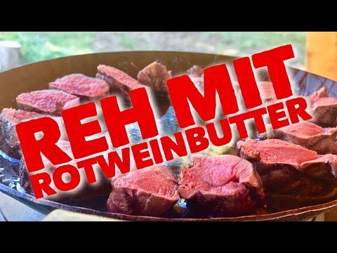 REHRÜCKEN vom GRILL mit Rotweinbutter --- Klaus grillt