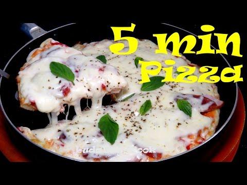 ПИЦЦА ЗА 5 МИНУТ рецепт Пицца на сковороде Позитивная Кухня Pizza (Cuisine)
